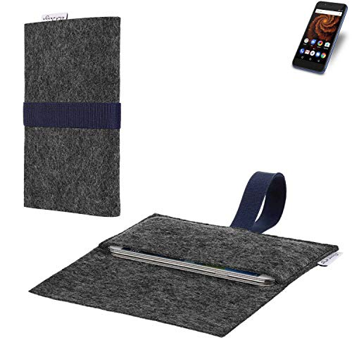 flat.design vegane Handy Hülle Aveiro für Allview X4 Soul Mini S passgenaue Filz Tasche Case Sleeve Made in Germany
