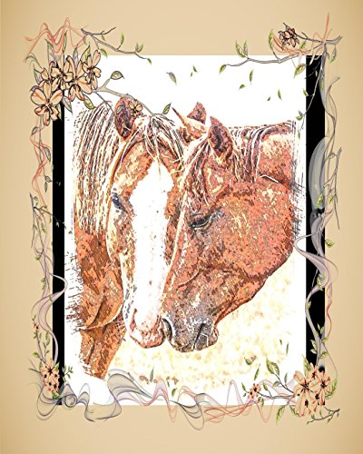 Horse Notebook: College Ruled - Lined Journal - Composition Notebook - Soft Cover Writer's Notebook or Journal for School  - College or Work -  Sepia Horse Love Crazy Horse Rodeo