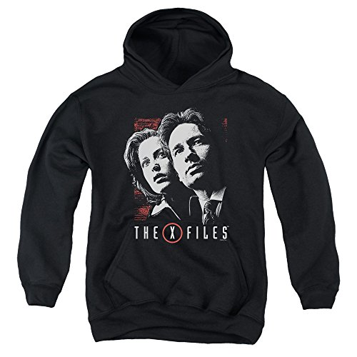 x-files-youth-mulder-scully-pullover-hoodie-medium-black