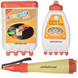 #3: Handsofodisha Ready to Draw Rangoli Making Kit: 1 Rangeela patta + 1 Galicha Rangoli Patta + 1 Rangoli Pen