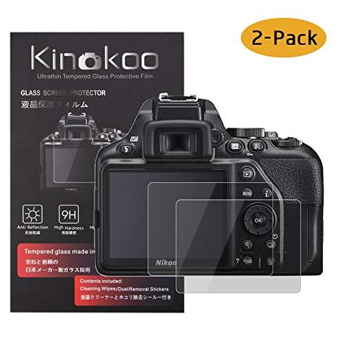 kinokoo Film de Verre trempé pour Nikon D3500/D3400/D3300/D3200/D3100 Film de Protection d'écran Crystal Clear Nikon D3500 D3400 D3300 D3200 D3100 sans Bulles/Anti-Rayures (Paquet de 2)