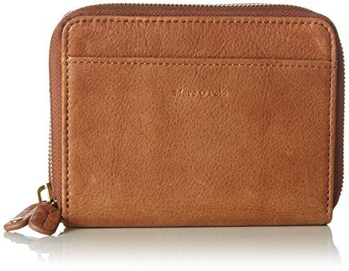 Marc O'Polo Damen Zip Wallet S Geldbörse, Braun (Ambra), 10x4x13 cm (Zip Leder Geldbörse)