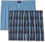 Tommy Hilfiger Herren Boxershorts 2P Woven Boxer Check, 2er Pack, Rosa (Blue Heaven/Blue Heaven 051), X-Large