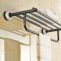 ssby continentale in ottone Asciugamano Rack, bronzo scuro accessori bagno,