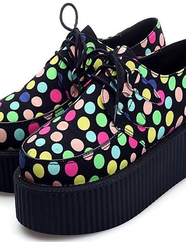 NJX/ Zapatos de mujer - Plataforma - Plataforma / Creepers / Punta Redonda - Oxfords - Casual - Seda - Multicolor...