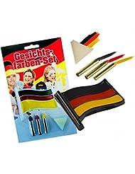 Taffstyle® Fanartikel Damen Schminkstift Set Fussball Weltmeisterschaft WM & EM Europameisterschaft 2016 Make-Up Schwarz Rot Gold - Deutschland