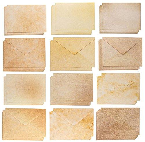 Blanko Karten und Umschläge–60A7Umschläge und 60Blanko Karton für Einladung Karten, Postkarten, Grußkarten, Aged Style Vintage Designs, 12,7x 17,8cm