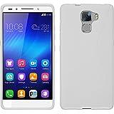 Funda de silicona para Huawei Honor 7 - S-Style blanco - Cover PhoneNatic Cubierta + protector de pantalla