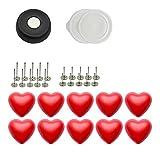 PANDA SUPERSTORE 10 Pack rote Herz Schnallen und Anti-Rutsch-Pins Set Bettbezug Bett Blatt Befestigungen