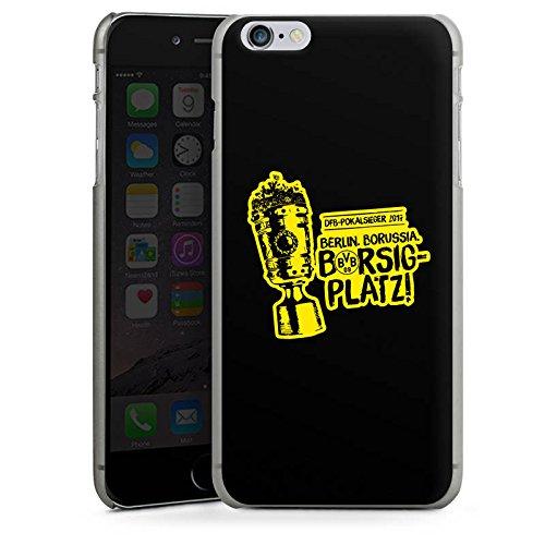 Apple iPhone 6s Silikon Hülle Case Schutzhülle Borussia Dortmund Pokalsieger BVB Hard Case anthrazit-klar