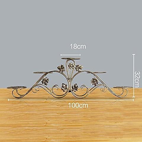balcons en fer forgé voyantes salon plancher prêt multicouche moderne étage étagère pot de fleurs ( Couleur : Brass , taille : 100*18*32 )