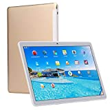 Tablet da 10 Pollici (10.1') con Funzione Telefono (4G Dual Sim+WiFi,1920X1200 HD IPS,Android 7.0,Octa Core,RAM da 4GB,eMMC da 64GB,GPS,OTG) (Oro)