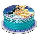 Aladdin & Princess Jasmine - Decoración para tarta (19 cm), diseño de magdalenas