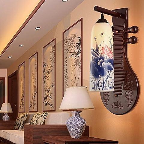 Parete lampada lampada in ceramica antica soggiorno camera da letto studio illuminazione lampada a parete retrò