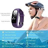 Lintelek Bracelet Connecté, Montre Sport Cardiofréquencemètre Tracker d'activité Etanche Montre GPS Connectée Chronomètre Podomètre pour iPhone Android