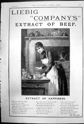 Annuncio Per la Birra 1891 dell'Estratto delle Società di Liebig