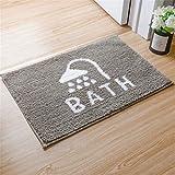 Fußmatte | 4 Größe Kreative Mustermatte Rutschfeste Türmatte Absorbiert Schlammmatte Schnelltrocknende Matte - Ideal für Badezimmer und Boden (Farbe : 40 * 60cm)