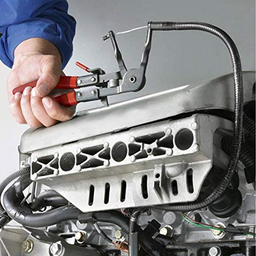 DEBBD Flexibler Draht Lange Reichweite Schlauchklemme Zange Auto Heizöl Wasserleitung Repair Tool (Reichweite-tool Auto Lange)