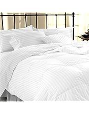 AVI Duvet with Duvet Cover- White Stripe