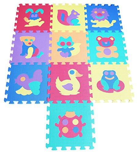 TLCmat Soft Foam Play Mat Puzzle Jigsaw With Animals and Pets Pop-Out