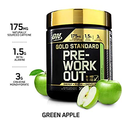 Optimum Nutrition Gold Standard Pre Workout 330g Apple from Optimum Nutrition