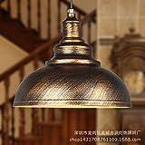 Lx.AZ.Kx E27 Luminaire Suspension Lustre Vintage Moderne Lampe Pendante Minimaliste rétro tête simple fer à repasser industriel américain Continental Nouveau 古 Suspension Lustre Lumière, Couleur de l'Or Antique,40