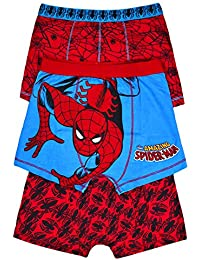 b56143a7b716 JollyRascals Boys New Spiderman Superhero Boxers Pants Briefs Kids Underwear  3 Pack Spider-Man Marvel Comics Cotton Set Red Blue…