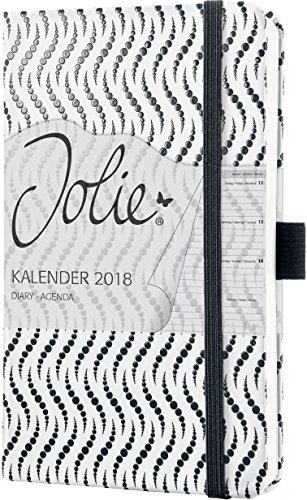 Sigel J8310 Wochenkalender Jolie 2018, ca. A6, Black Illusion  - viele Modelle