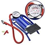 Globex FMultipurpose Air Pump with Gauge Use for Football/Motorcycle /Bicycle/Car Inflator/Air Mattress