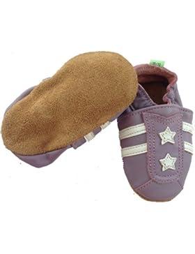 Krabbelschuhe, Lederschuhe, Lernlaufschuhe, Lederpuschen, Baby Schuhe: SPORTY PINK-LILA