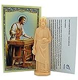 Religieux Cadeaux Saint Joseph Statue Home Vendeur kit avec Carte de prière et d'instructions