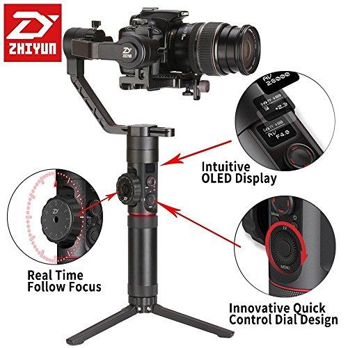 Zhiyun-Crane-2-Il-primo-stabilizzatore-di-fotocamere-a-3-assi-del-mondo-con-il-controllo-della-messa-a-fuoco-Focus-Gimble-a-mano-con-display-OLED-intuitivo-e-18-ore-di-runtime-e-32KG-Max-Payload-per