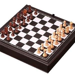 YBWEN-Chess Internationales Schachspiel Magnetisches Reiseschachspiel 3 In 1 Schach Dame Backgammon Set for Erwachsene…