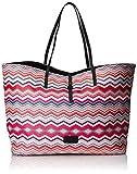 Codello Shopper Ethno Zig Zag 61021611 Damen Shopper 34x41x15 cm (B x H x T), Pink (Dark Pink 21 21)