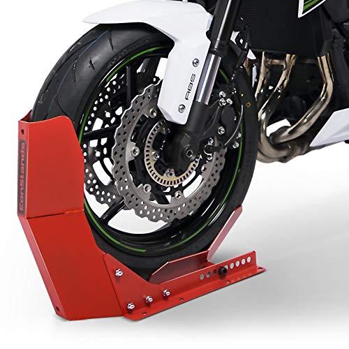 ConStands Easy Transport Fix - Motorrad Wippe matt für Anhänger Vorderrad Transportständer Motocross Roller Rot