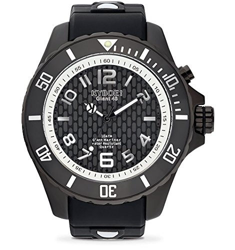 KYBOE! Quartz Stainless Steel and Silicone Watch (Model: Black Energy)