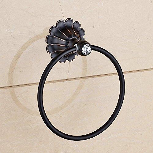 hiendurer-wall-mount-bagno-materiale-ottone-anello-di-tovagliolo-rack-lucidato-olio-bron