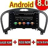 ROADYAKO 7inch Head Unit pour Nissan Juke 2004 2005 2006 2007 2008 2009 2010 2011 2012 2013 2014 2015 2016 Android 8.0 Autoradio Stéréo GPS Navi 3G WiFi Mirrorlink RDS FM AM