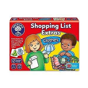 Liste de Courses Les Vêtements (Version Anglaise)