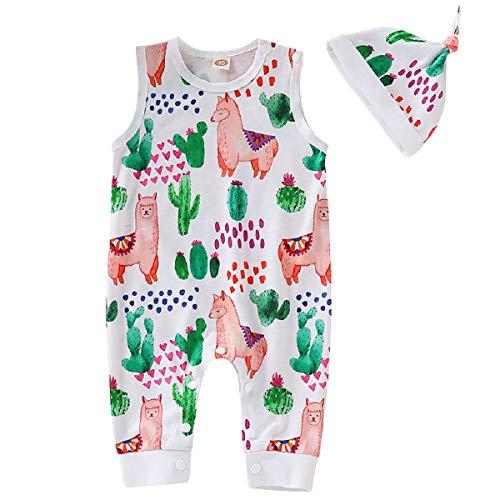 Liusdh 2019 Kinder Kleidung Jungen Neugeborene Kinder Kleinkind Toldder Baby Junge Mädchen Cartoon Sommer Tier Plantplinted Muster Strampelanzug Outfits Kleidung (Strampelanzug, Schlafanzug Tier)