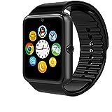 Togather® GT08 Bluetooth Reloj inteligente teléfono Mate aptitud de los deportes podómetro Rastreador del sueño para IOS y Android Smartwatches Negro