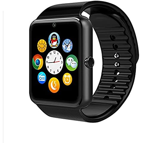 Togather® GT08 Bluetooth Smartwatches Phone Mate Sport Fitness Pedometro sonno Tracker per Android e IOS smartphone Nero