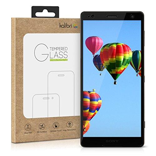 kalibri-Echtglas-Displayschutz-fr-Sony-Xperia-XZ2-3D-Schutzglas-Full-Cover-Screen-Protector-mit-Rahmen-Glas-Folie-auch-fr-gewlbtes-Display-in-Schwarz