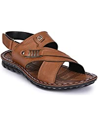 Action Shoes Tan Velcro Sandals