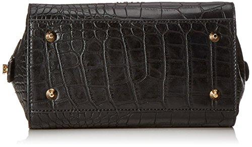 CINQUEDonna Handtasche - Borsa con Maniglia Donna Nero (Schwarz (schwarz 9000 9000))