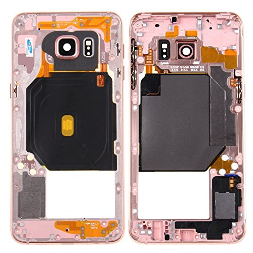 JIADUOBAOSEN Handy-Ersatzteile IPartsBuy for Samsung Galaxy S6 Edge + / G928 Middle Frame Lünette (Farbe : Rosa)