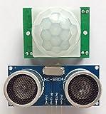 2 x-Infrarot-Bewegungsmelder HC-SR501 und 2 x Ultraschall-Abstandssensor HC-SR04 Ideal für den Einsatz mit dem Raspberry Pi und Arduino, MTS1EU