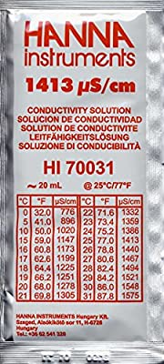 Hanna instruments Lot de 5 sachets de solution d'étalonnage 1413 µS 5 x 20 ml
