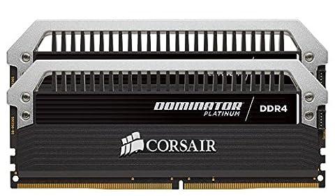 Corsair CMD32GX4M2B3000C15 Dominator Platinum Series 32 GB (2 x 16 GB) DDR4 3000 MHz C15 XMP 2.0 High Performance Desktop Memory Kit - Black