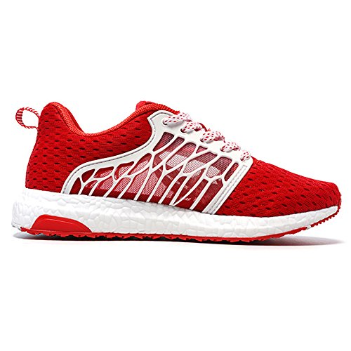 Onemix Uomini Tuta Palestra scarpe da corsa Fitness Trainer Light Rosso bianco